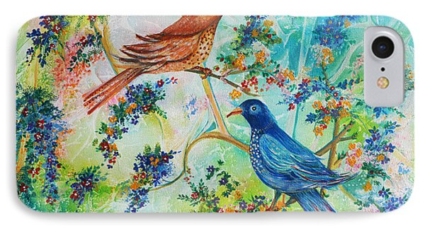 IPhone Case featuring the painting Birds Of Spring by Yolanda Rodriguez