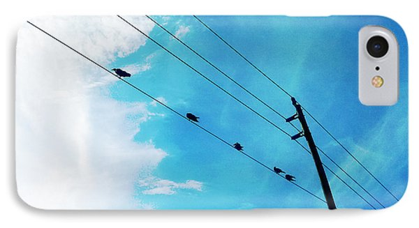 Birds On A Wire IIi IPhone Case by Chris Andruskiewicz