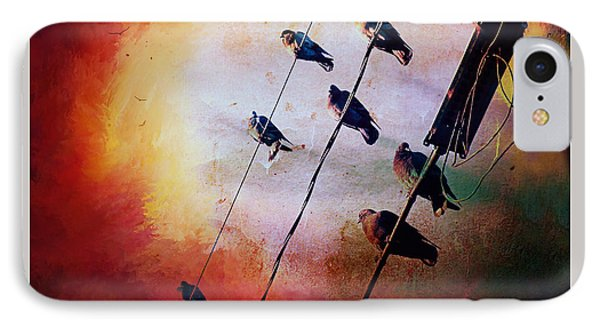 Birds On A Wire IPhone Case by Micki Findlay