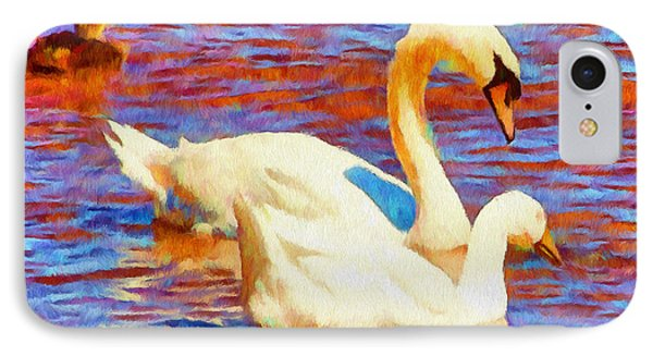 Birds On The Lake IPhone Case by Jeff Kolker