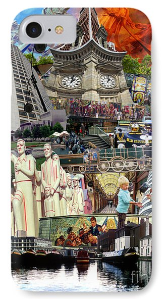 Birmingham 1980s Montage IPhone Case by Neil Finnemore