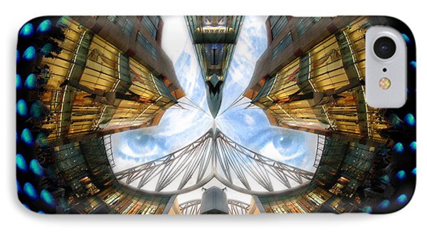 Birmingham Bull Ring Eyes In The Sky IPhone Case by Neil Finnemore