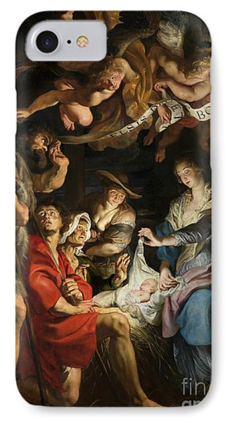 Birth Of Christ Adoration Of The Shepherds Phone Case by Peter Paul Rubens