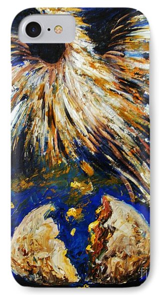 IPhone Case featuring the painting Birth Of The Phoenix by Karen  Ferrand Carroll