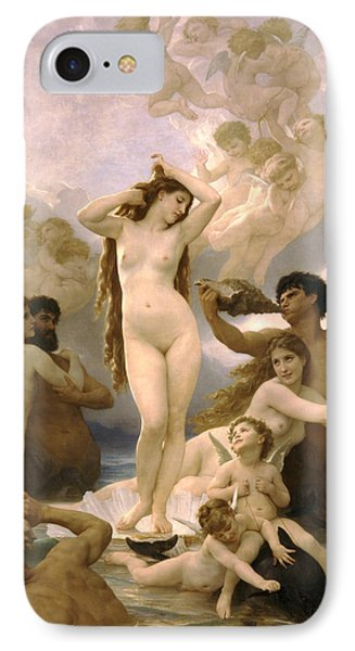 Birth Of Venus IPhone Case by William Bouguereau