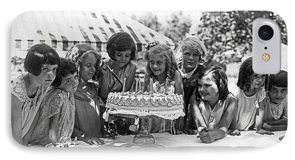 Birthday Cake Girl And Friends IPhone Case by Underwood Archives