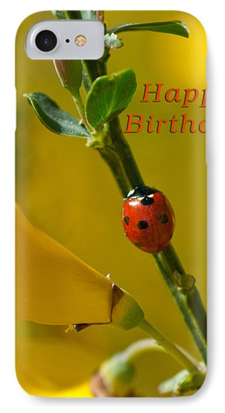 Birthday Greeting Card IPhone Case by Michele Wright