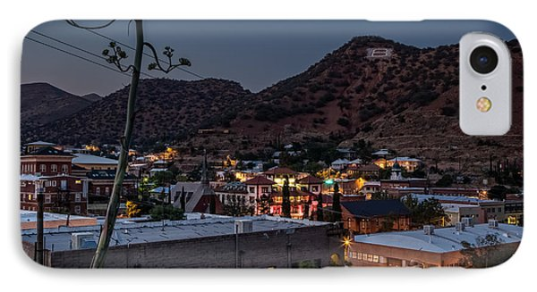 IPhone Case featuring the photograph Bisbee At Night by Beverly Parks
