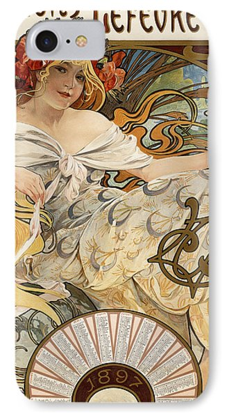 Biscuits Lefevre-utile IPhone Case by Alphonse Marie Mucha