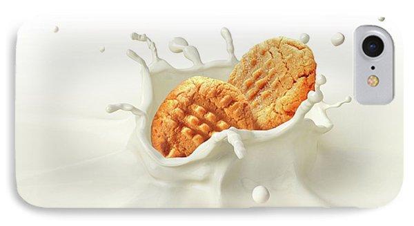 Biscuits Splashing Into Milk IPhone Case