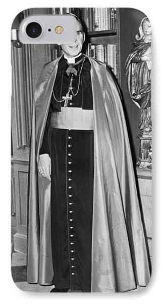 Bishop Fulton J. Sheen IPhone Case by Fred Palumbo