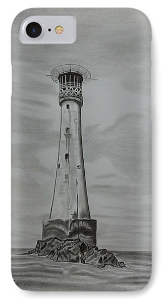 Bishops Rock Lighthouse IPhone Case by Tony Clark