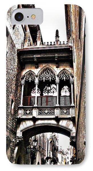 Bishop's Street - Barcelona Phone Case by Juergen Weiss