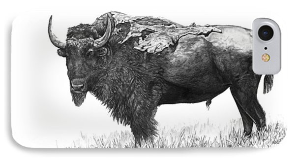 Bison IPhone Case by Aaron Spong