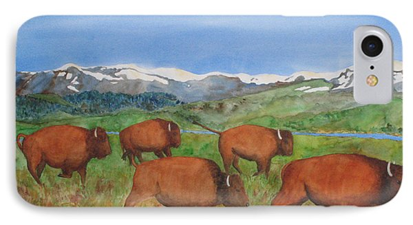 Bison At Yellowstone Phone Case by Patricia Beebe