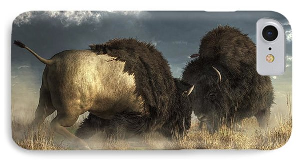 Bison Fight IPhone Case
