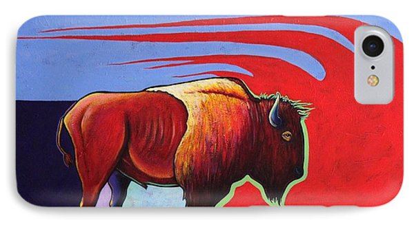 Bison In The Winds Of Change Phone Case by Joe  Triano