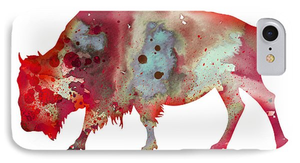 Bison IPhone Case by Watercolor Girl