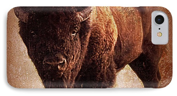 Bison IPhone Case by Mindy Bench