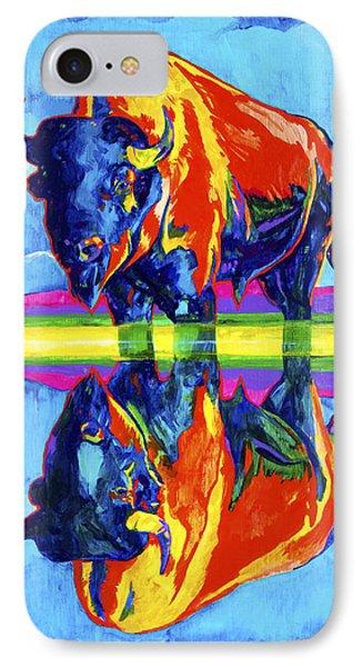 Bison Reflections Phone Case by Derrick Higgins