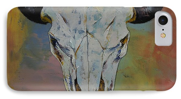 Bison Skull Phone Case by Michael Creese