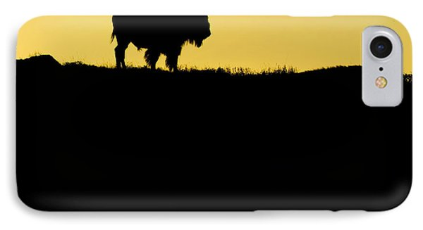 IPhone Case featuring the photograph Bison Sunrise by Sonya Lang