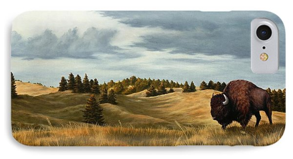 Bison  Wind Cave Park  South Dakota IPhone Case by Rick Bainbridge