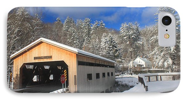Bissell Covered Bridge In Winter Phone Case by John Burk