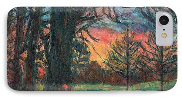 Bisset Park Sunrise Phone Case by Kendall Kessler