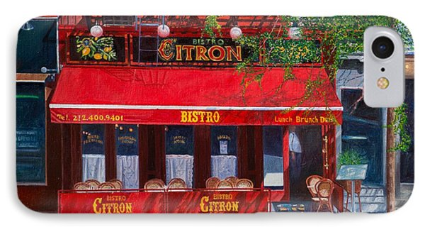 Bistro Citron New York City Phone Case by Anthony Butera