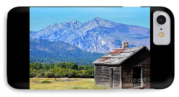 IPhone Case featuring the photograph Bitterroot Valley Cabin by Joseph J Stevens