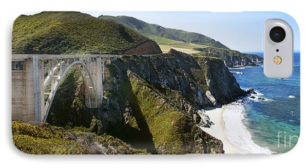 Bixby Bridge Near Big Sur On Highway One In California Phone Case by Artist and Photographer Laura Wrede