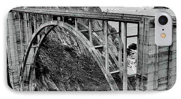 Bixby Creek Bridge Black And White Phone Case by Benjamin Yeager
