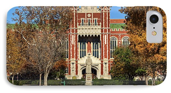 Bizzell Memorial Library IPhone Case