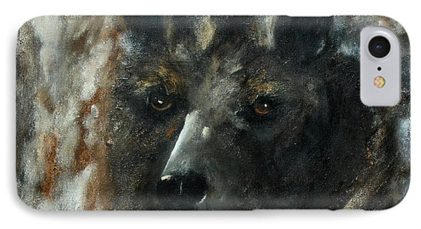IPhone Case featuring the painting Bjomolf - Bear Wolf by Barbie Batson