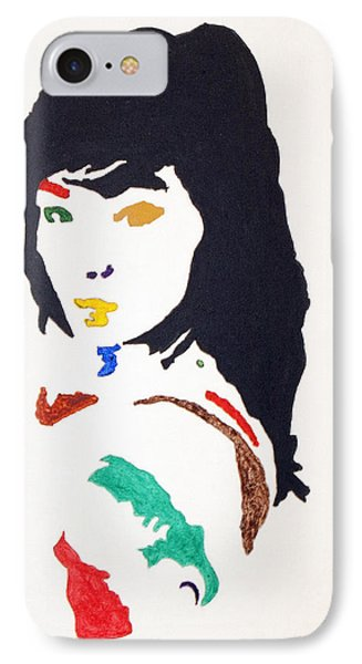 IPhone Case featuring the painting Bjork by Stormm Bradshaw