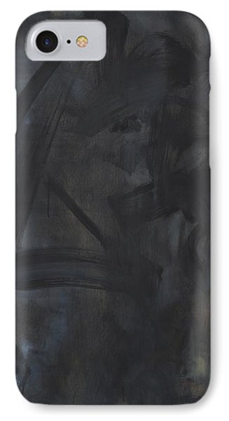 Black Abstract Phone Case by Wayne Carlisi