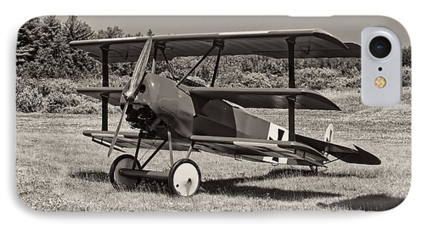 Black And White 1917 Fokker Dr.1 Triplane Red Barron IPhone Case