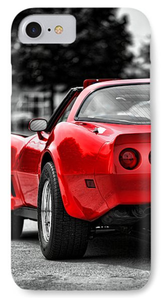 Black And White And Red All Over IPhone Case by Gordon Dean II