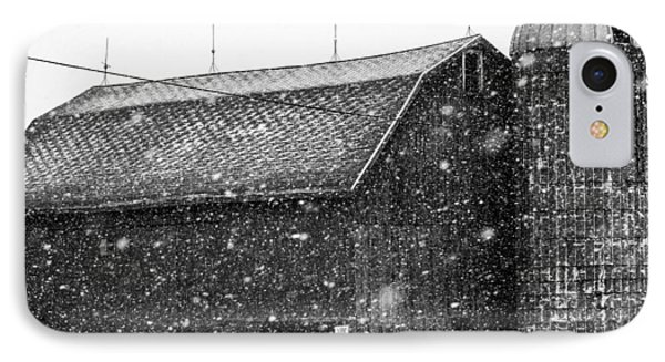 Black And White Barn Phone Case by Tim Buisman