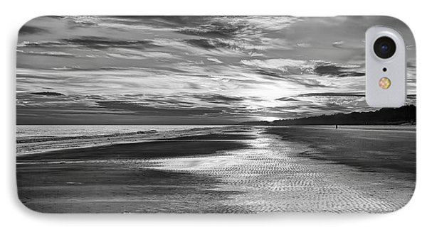 Black And White Beach Phone Case by Phill Doherty
