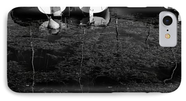 Black And White Boats IPhone Case by Pati Photography