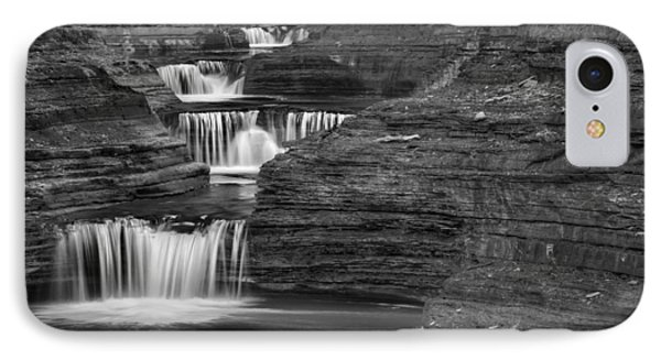 Black And White Cascade IPhone Case by Bill Wakeley