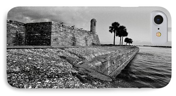 Black And White Castillo De San Marcos View 3 IPhone Case