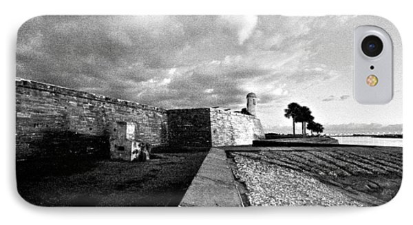 Black And White Castillo De San Marcos View 4 IPhone Case