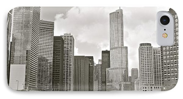 Black And White Chicago Panoramic IPhone Case