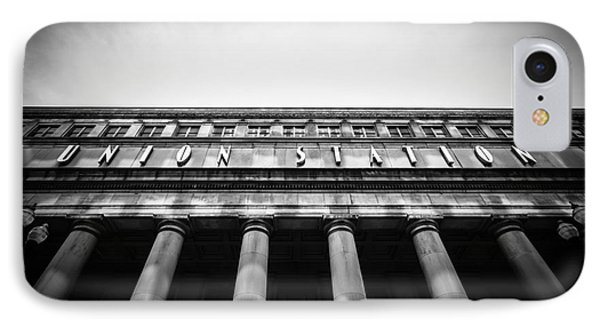 Black And White Chicago Union Station Phone Case by Paul Velgos