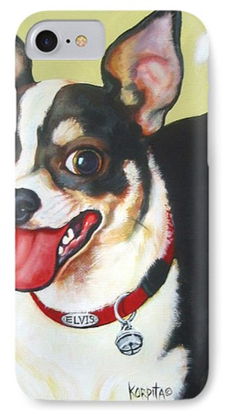 Black And White Chihuahua IPhone Case by Rebecca Korpita