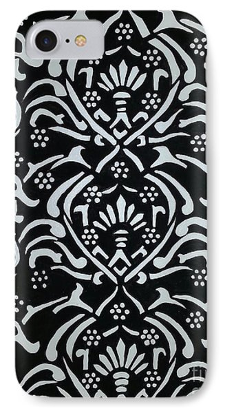 Black And White Classic Damask Phone Case by Debra Acevedo