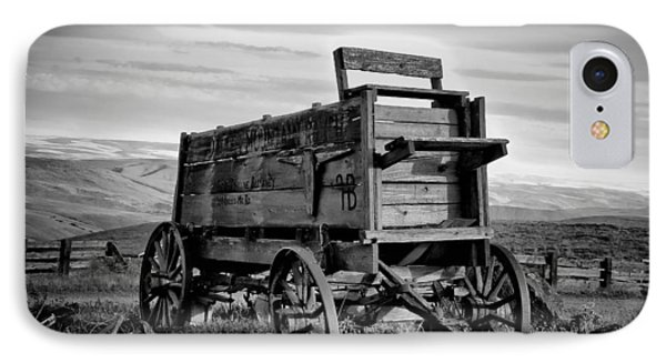 Black And White Covered Wagon Phone Case by Athena Mckinzie